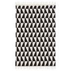 Dywan bawełniany GIA czarny 60 x 90 cm INSPIRE