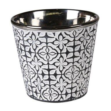 Osłonka doniczki ceramiczna 13 cm antracytowa PELLE