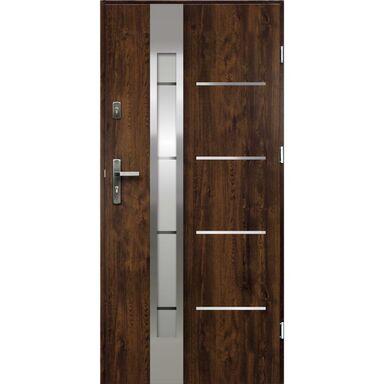 Drzwi zewnętrzne stalowe ADRIANA Orzech 90 Prawe OK DOORS TRENDLINE