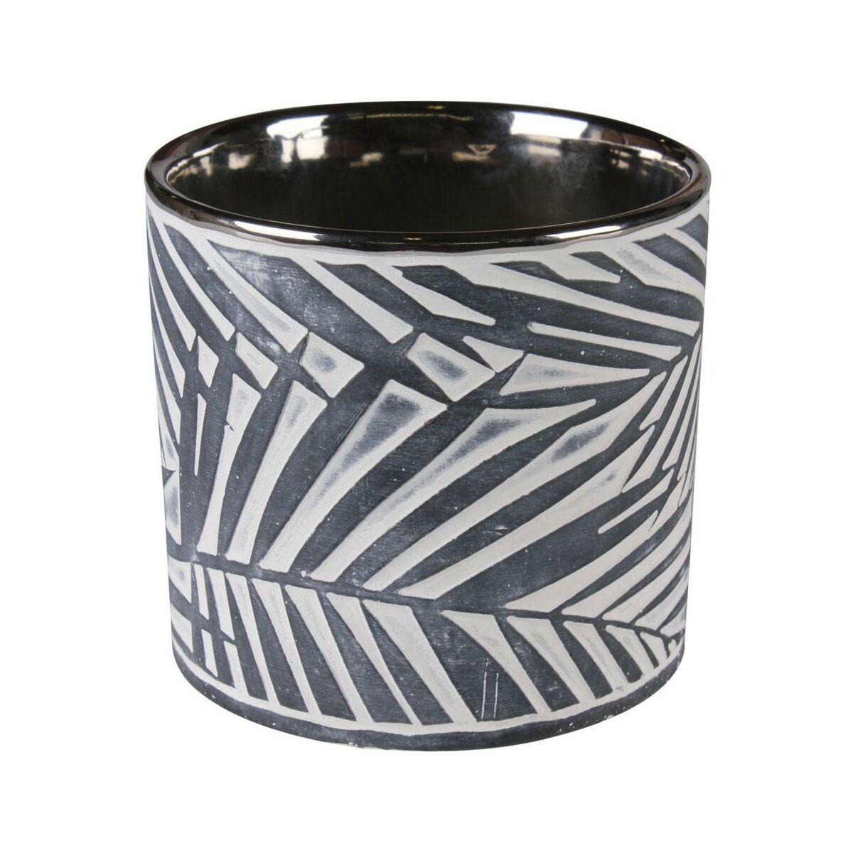 Osłonka Doniczki Ceramiczna 125 Cm Antracytowa Soren