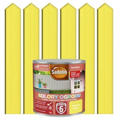 Farba do drewna KOLORY OGRODU 0.7 l Słoneczna cytryna SADOLIN