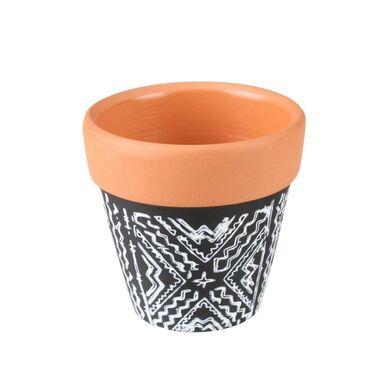 Osłonka doniczki ceramiczna 6.5 cm czarno-biała ALVAR