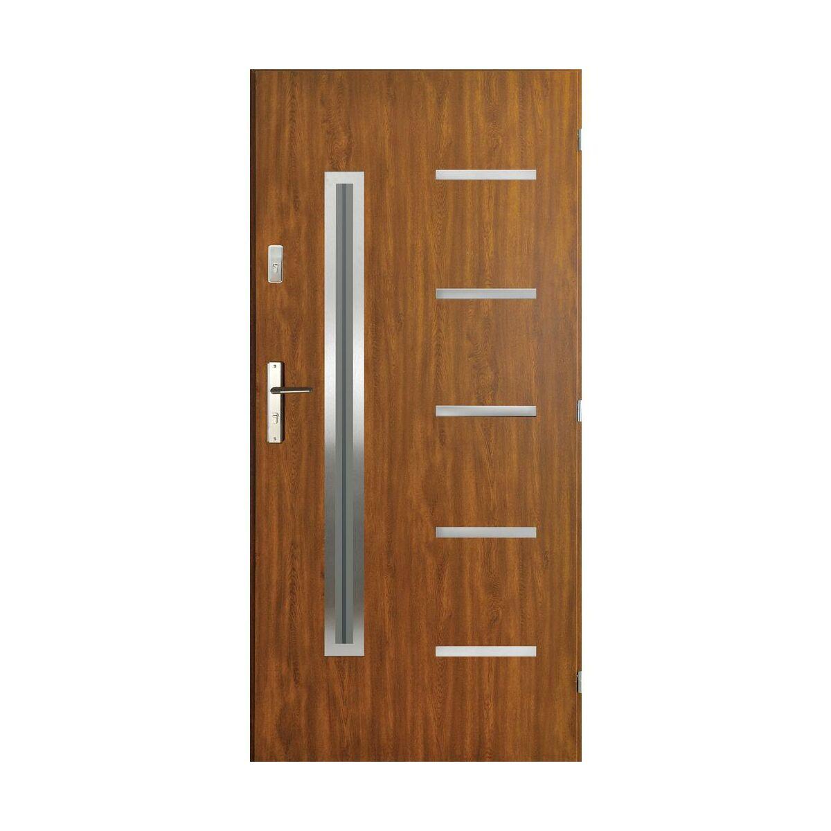 Drzwi Wejsciowe Nike Zloty Dab 90 Prawe Pantor Drzwi Zewnetrzne Do Domu Mieszkania W Atrakcyjnej Cenie W Sklepach Leroy Merlin