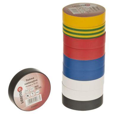 Taśma izolacyjna 15 mm X 10 m F615992  MIX 10szt. LEXMAN