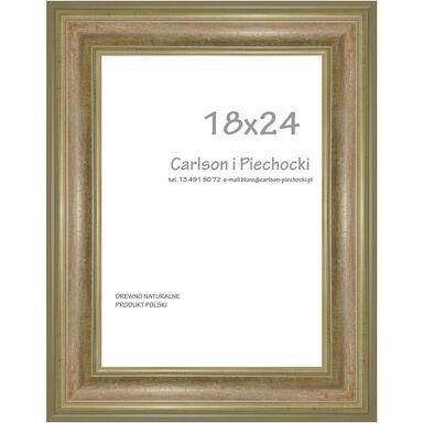 Ramka na zdjęcia SYRIUSZ 18 x 24 cm srebrna drewniana