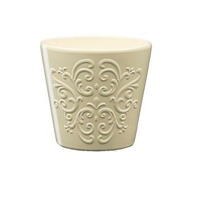 Osłonka ceramiczna 16 cm beżowa RETRO 2 J10 EKO-CERAMIKA