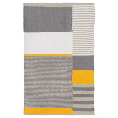 Dywan bawełniany Ivo szaro-żółty 60 x 90 cm Inspire
