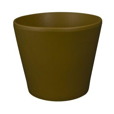 Osłonka ceramiczna 12.5 cm brązowa BILBAO