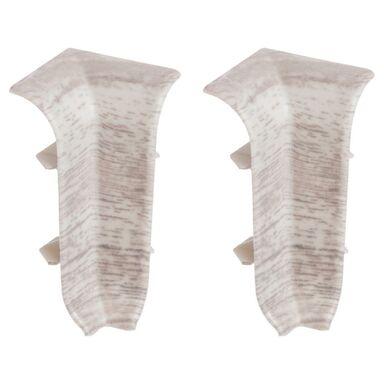 Narożnik wewnętrzny do listwy przypodłogowej ERGO 56 Dąb siwy 2 szt.