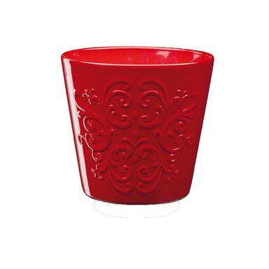 Osłonka ceramiczna 13 cm czerwona RETRO 1 J20 EKO-CERAMIKA