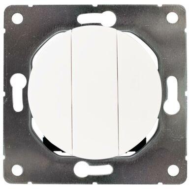 Włącznik potrójny SOUL  biały  DPM