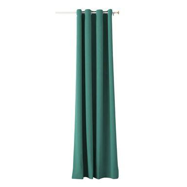 Zasłona AURA zielona 140 x 250 cm na przelotkach