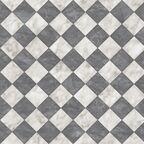 Wykładzina PCV Bartesa Holywell biało-czarna imitacja płytek 2 m