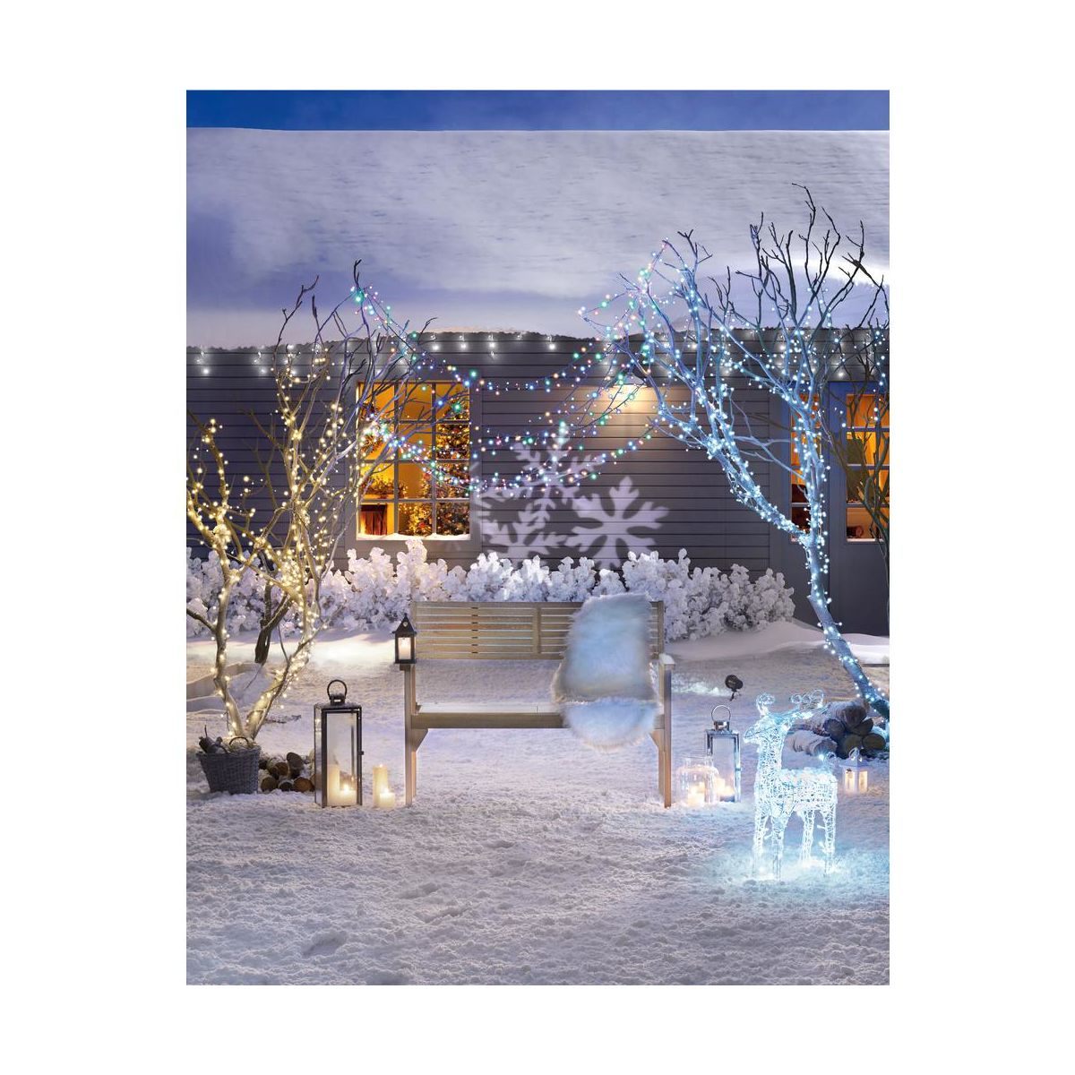 Lampki Choinkowe Zewnetrzne 19 95 M 400 Led Biale Zimne Z Gniazdem I Wlacznikiem Czasowym Oswietlenie Swiateczne Zewnetrzne W Atrakcyjnej Cenie W Sklepach Leroy Merlin