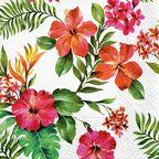 Serwetka HAWAIIAN FLOWERS 33 x 33 cm 20 szt.  PAW DECOR COLLECTION
