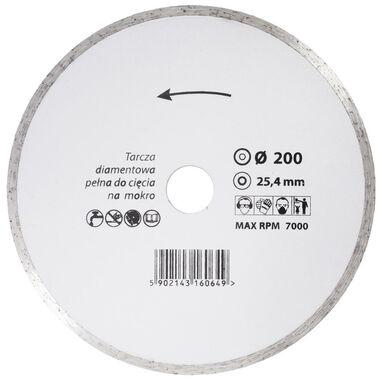 Tarcza diamentowa 200 x 25.4 mm CIĄGŁA