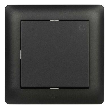 Przycisk dzwonek ASTORIA  czarny  ELEKTRO-PLAST