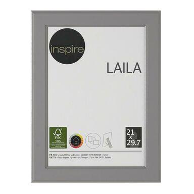 Ramka na zdjęcia Laila 21 x 29.7 cm szara MDF Inspire