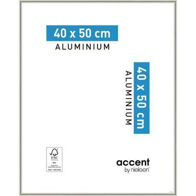 Ramka na zdjęcia ACCENT 40 x 50 cm nikiel mat aluminiowa