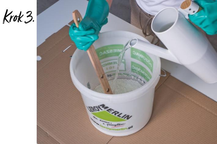 Doniczka z betonu DIY - krok 3