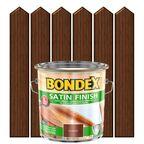 Lakierobejca do drewna SATIN FINISH 2,5 lOrzech włoski BONDEX