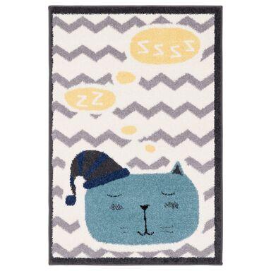 Dywan dziecięcy Sleepy kremowo-niebieski 80 x 120 cm