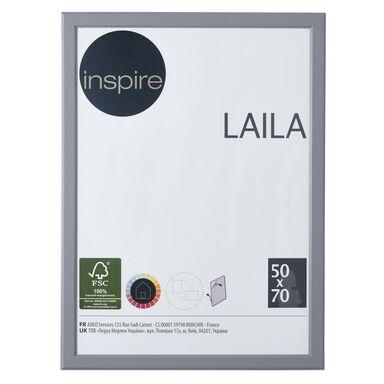 Ramka na zdjęcia LAILA 50 x 70 cm szara MDF INSPIRE