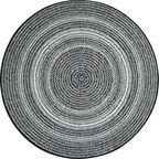 Dywan zewnętrzny Ethnic ciemnoszary okrągły śr. 120 cm