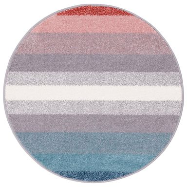 Dywan okrągły SIMP niebiesko-czerwony śr. 100 cm