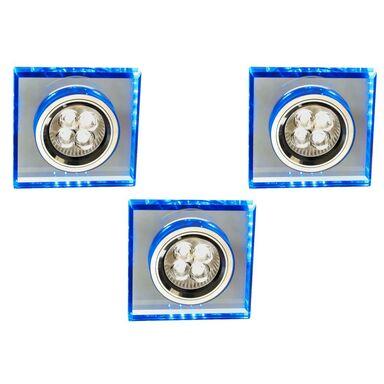 Zestaw opraw stropowych 3 szt. SS-22 niebieskie GU10 + LED CANDELLUX