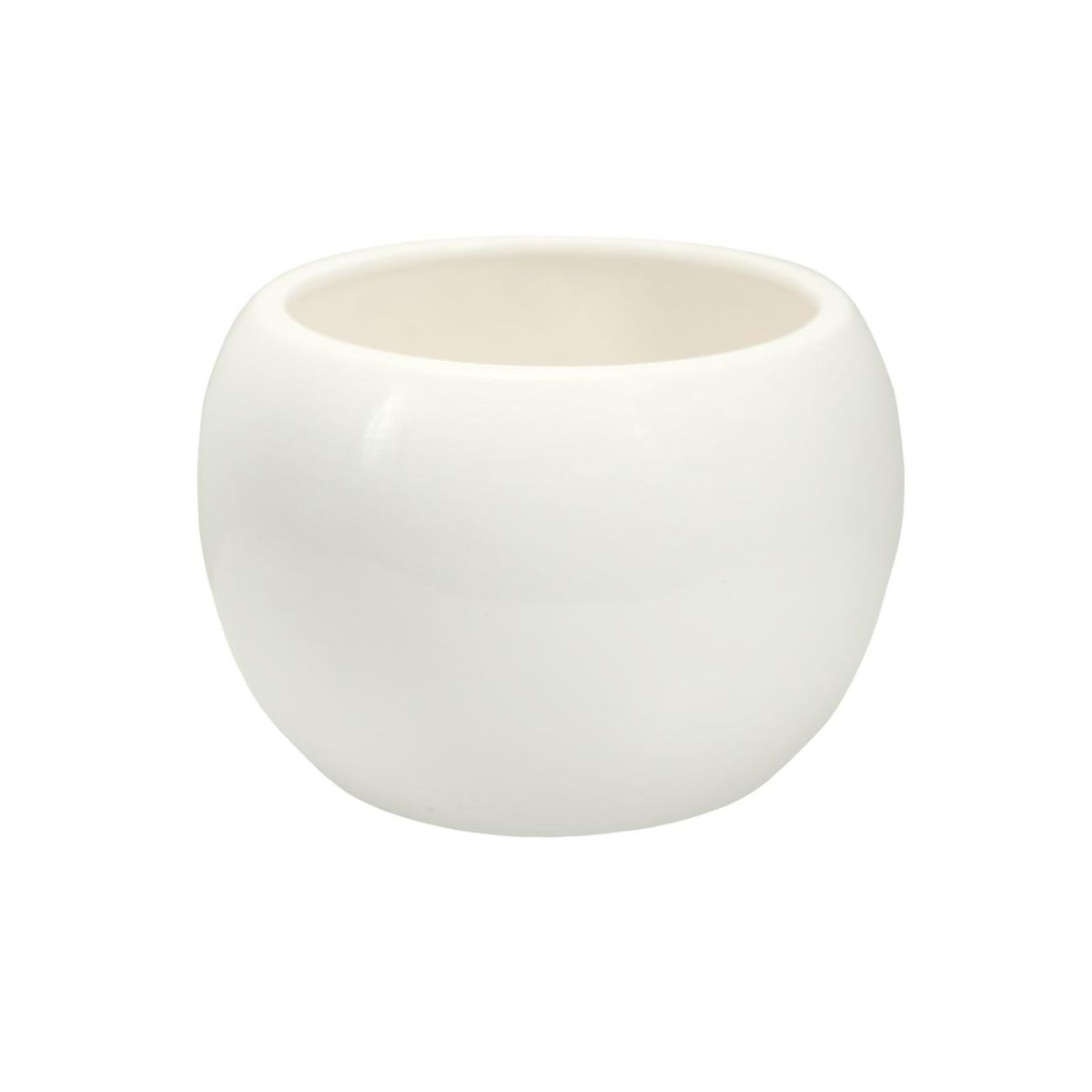 Doniczka Ceramiczna 13 Cm Biała Kula 3 J15 Eko Ceramika