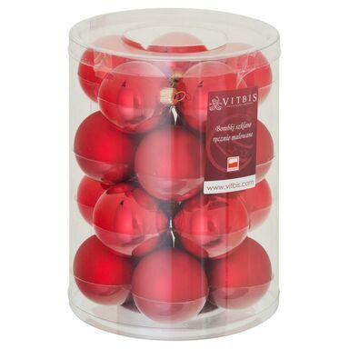 Bombki szklane 6 cm 20 szt. czerwone