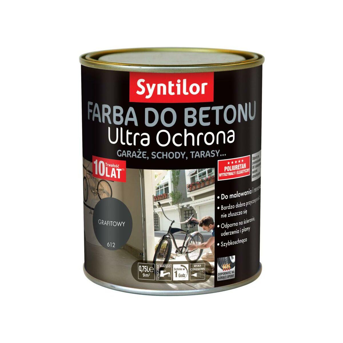 Farba Do Betonu Ultra Ochrona 0 75 L Grafitowy Syntilor Farby Renowacyjne W Atrakcyjnej Cenie W Sklepach Leroy Merlin