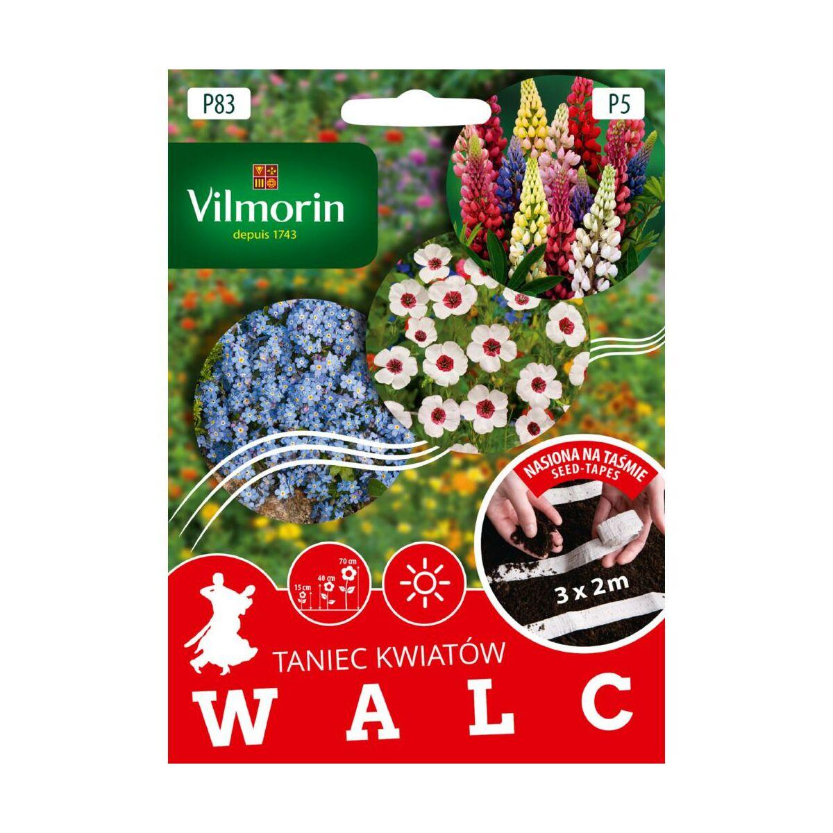 Mieszanka kwiatów WALC nasiona na taśmie 3 x 2 m VILMORIN