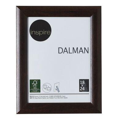 Ramka na zdjęcia DALMAN 18 x 24 cm brązowa drewniana INSPIRE