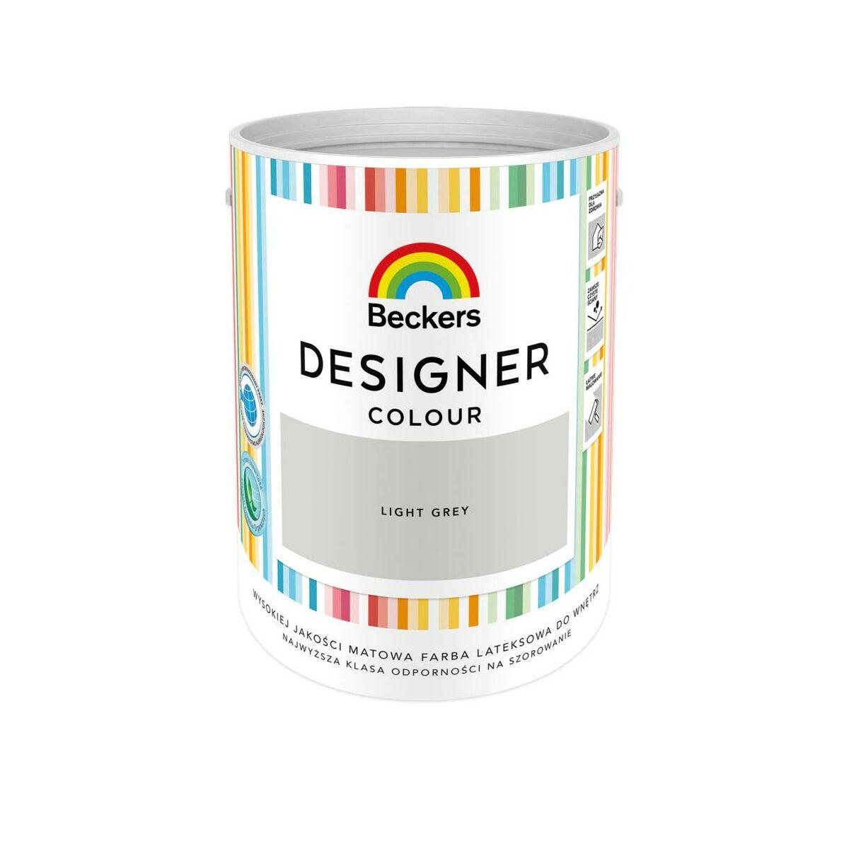 Farba Wewnetrzna Designer Colour 5 L Light Grey Beckers Farby Scienne Kolorowe W Atrakcyjnej Cenie W Sklepach Leroy Merlin
