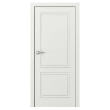 Skrzydło drzwiowe pełne bezprzylgowe Vector V Białe 70 Prawe Porta