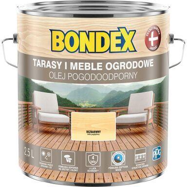 Olej do drewna POGODOODPORNY 2.5 l Bezbarwny BONDEX