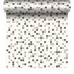 Tapeta do kuchni łazienki Contour Checker szara winylowa na papierze