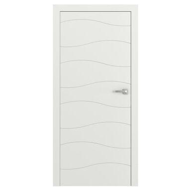 Skrzydło drzwiowe pełne bezprzylgowe VECTOR X Białe 90 Lewe PORTA