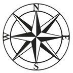 Metalowa dekoracja ścienna Kompas śr. 55 cm