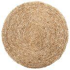 Dywan mata słomiana okrągły śr. 80 cm z trawy morskiej