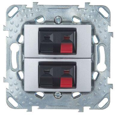 Gniazdo głośnikowe podwójne UNICA  aluminium  SCHNEIDER ELECTRIC