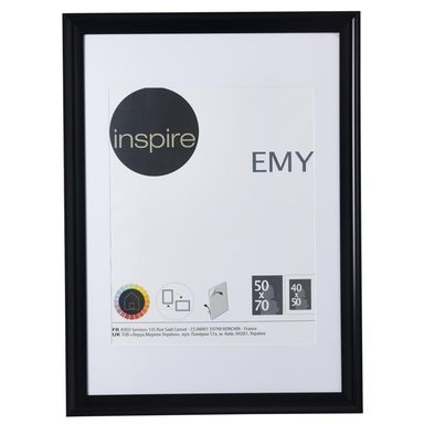 Ramka na zdjęcia EMY 50 x 70 cm czarna INSPIRE