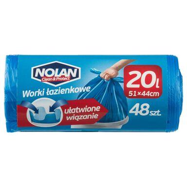 Worki na śmieci ŁAZIENKOWE 15 l 48 szt. NOLAN