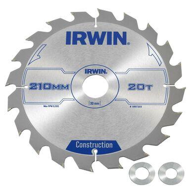 Tarcza do pilarki tarczowej 210MM/20T/30(20,16)  210 mm zęby: 20 szt. IRWIN