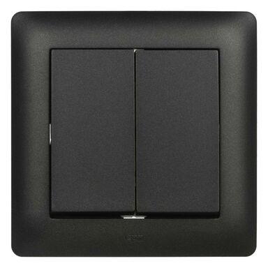 Wyłącznik podwójny schodowy ASTORIA czarny ELEKTRO-PLAST
