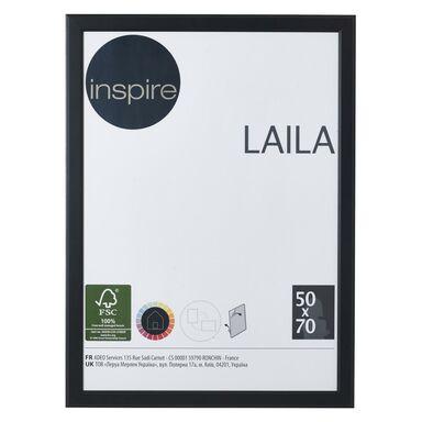 Ramka na zdjęcia LAILA 50 x 70 cm czarna MDF INSPIRE