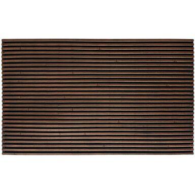 Wycieraczka zewnętrzna WOODY 75 x 45 cm gumowa miedziana