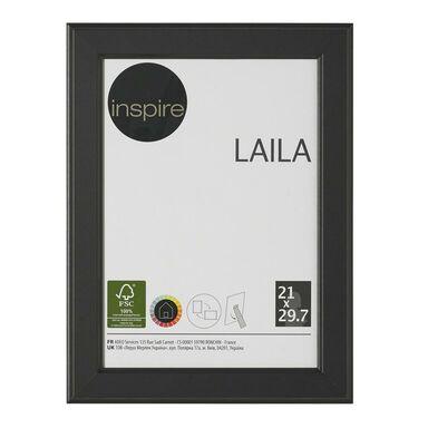 Ramka na zdjęcia Laila 21 x 29.7 cm czarna MDF Inspire